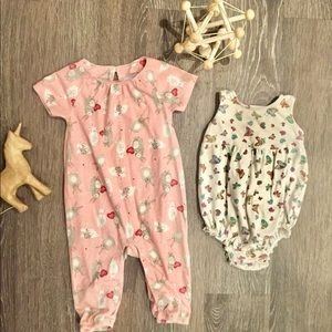 2 pc Old Navy Romper Bundle 6-12 month
